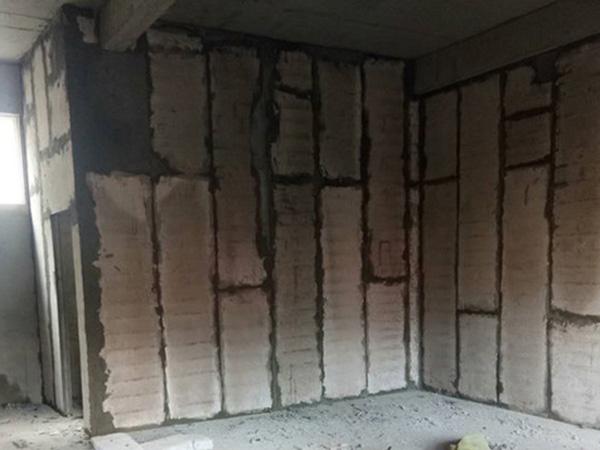 宜阳糖果幼儿园800平米轻质隔墙板施工现场